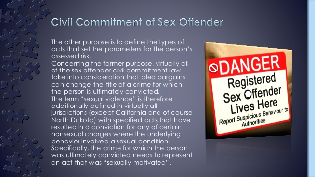 Civil commitment and sex offender